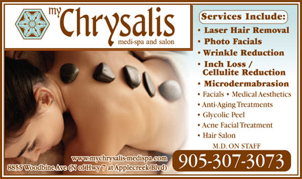 My Chrysalis Medi-Spa and Salon - Click here for our website