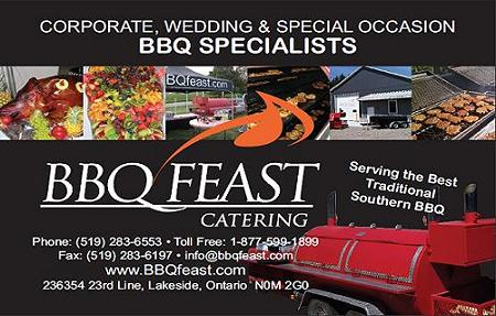 BBQ Feast Catering - Corporate ~ Weddings ~ Special Events ~ 1-877-599-1899 - Click here to visit our website!