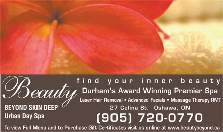 Beauty Beyond Skin Deep Urban Day Spa - Click here to visit our website!