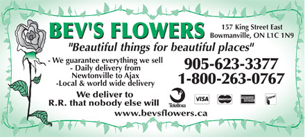 Bev's Flowers - 905-623-3377 - Click here to visit our website!