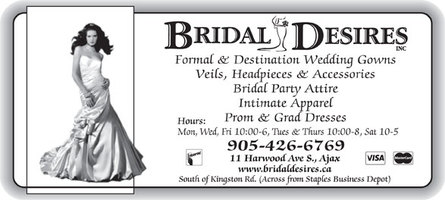 Bridal Desires - The latest in affordable Bridal Fashions ~ Wedding Gowns ~ Bridal Party Attire - Click here to visit our website!