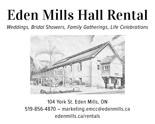 Eden Mills & District Community Hall - Click here to visit our website!