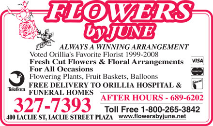 Flowers By June - 800-265-3842 - Click here to visit our website!