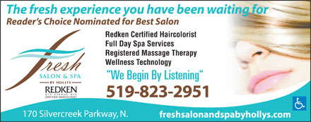 Fresh Salon and Spa by Hollys - Click here to visit our website!