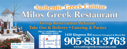 Milo's Greek Restaurant and Catering - Click here to visit our website!