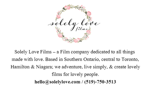 Solely Love Films � Wedding  Videography Toronto