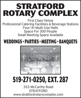 Stratford Rotary Complex - Click here to visit our website!