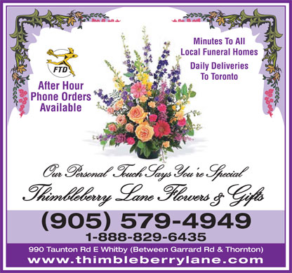 Thimbleberry Lane Flowers and Gifts - Click here to visit our Website!