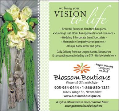 Blossom Boutique - 905-954-0444 - 16655 Yonge Street, Newmarket, ON