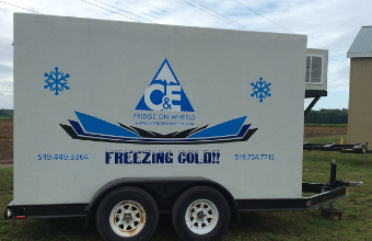 C&E Fridge on Wheels - Click here to visit our website!