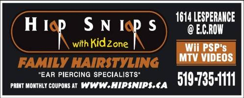 Hip Snips Hair Salon - 519-753-1111 - Click to visit our Website.