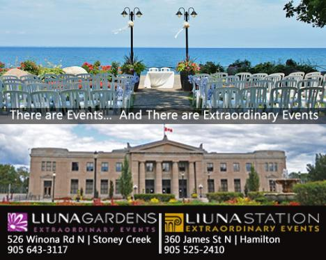 Liuna Gardens and Liuna Station - Beautiful and unique venues for your next event. - Click here to visit our website!