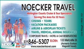 Noecker Travel Limited - 123 Metcalfe Street North, Elora, ON, -  519-846-5307 - Click here to visit our website!