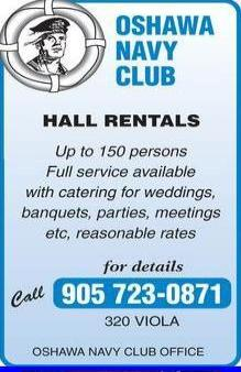 Oshawa Navy Club - 905-723-0871 - Click here to visit our website!