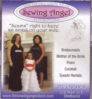 Sewing Angel - Click here to visit our Facebook page.