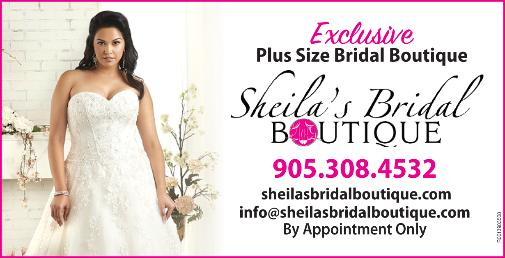 Sheila's Bridal Boutique - Specializing in Plus Size Gowns and Bridal Party Shoes. We carry Alfred Angelo gowns up to size 28W. Bridal accessories, and online discounted invitations are also available. We make brides our priority. - Click here to visit our website!