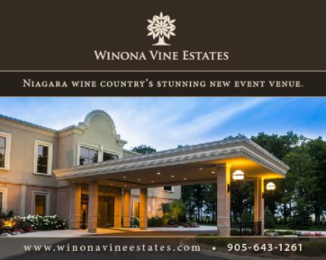 Winona Vine Estates Banquet and Convention Centre - Weddings ~ Conferences ~ Events ~ Receptions ~ Conventions ~ Parties - 269 Glover Road, Stoney Creek - 905-643-1261 - Click here to visit our website!